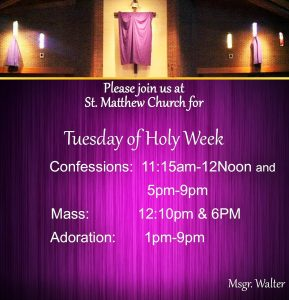 2017 Tuesday of Holy Week