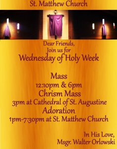 2017 Wednesday of Holy Week